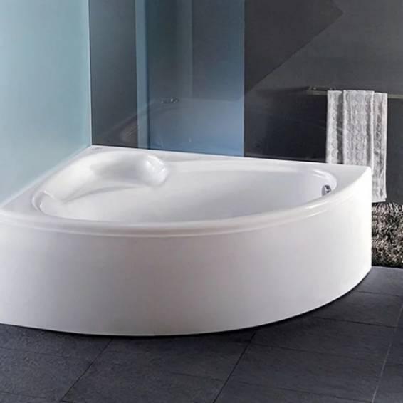 Carron Dove Corner Carronite Bath 1550 x 950mm Right Hand