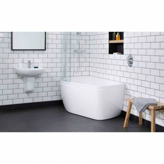 Carron Profile Shower Carronite Bath 1500 x 900mm Left Hand