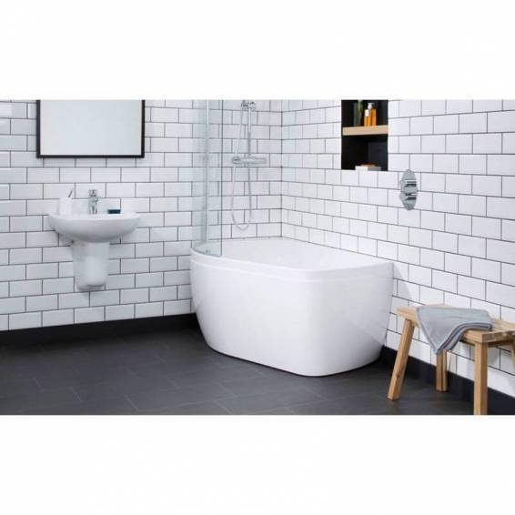 Carron Profile Shower Carronite Bath 1500 x 900mm Right Hand