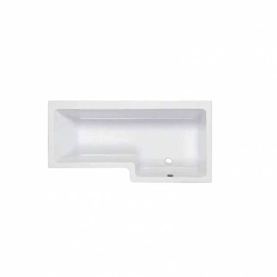 Carron Quantum Square Shower Carronite Bath 1500 x 700/850mm Right Hand