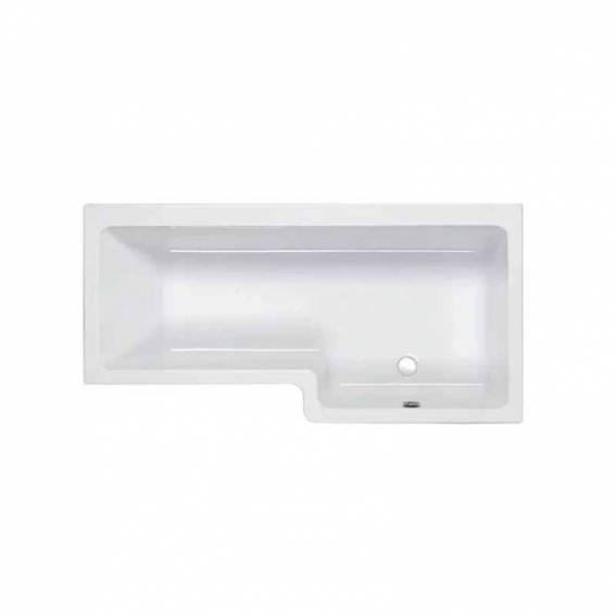 Carron Quantum Square Shower Carronite Bath 1600 x 700/850mm Right Hand