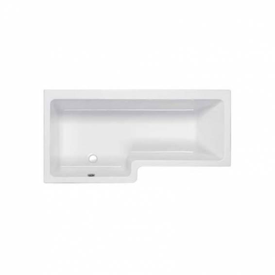 Carron Quantum Square Shower Carronite Bath 1700 x 700/850mm Left Hand