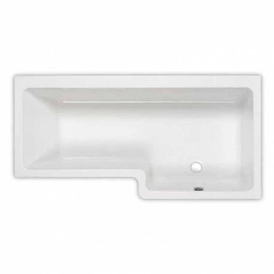 Carron Quantum Square Shower Carronite Bath 1700 x 700/850mm Right Hand