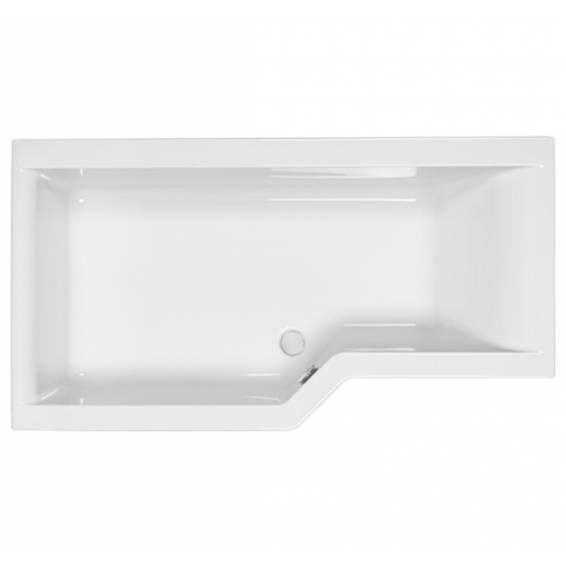 Carron Urban Edge Shower Bath 1675 x 700/850mm Left Hand