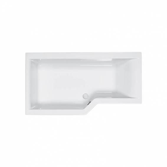 Carron Urban Edge Shower Carronite Bath 1575 x 700/850mm Left Hand