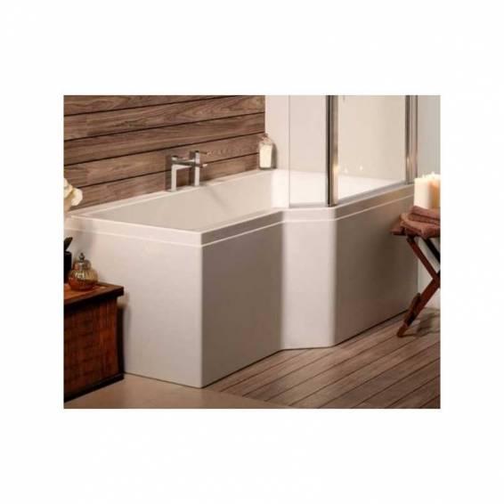 Carron Urban Edge Shower Carronite Bath 1575 x 700/850mm Right Hand