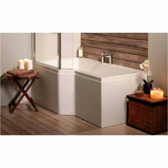 Carron Urban Edge Shower Carronite Bath 1675 x 700/850mm Left Hand