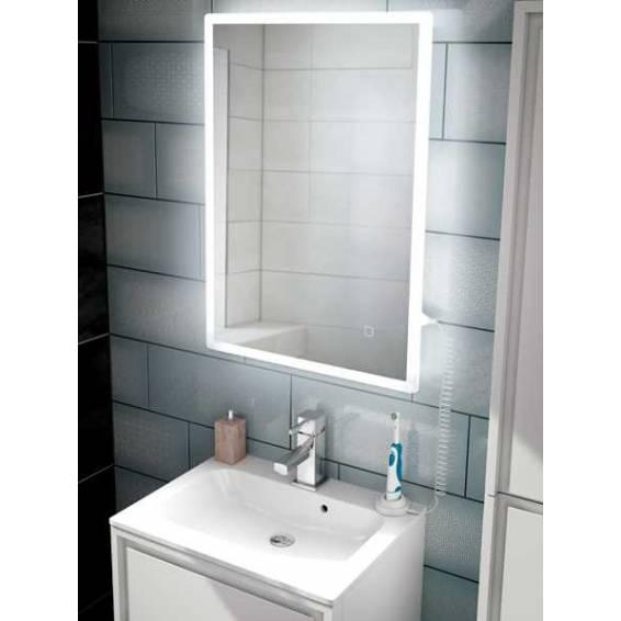 HIB Vega 50 Steam Free LED Mirror with Charging Socket 700 x 500mm