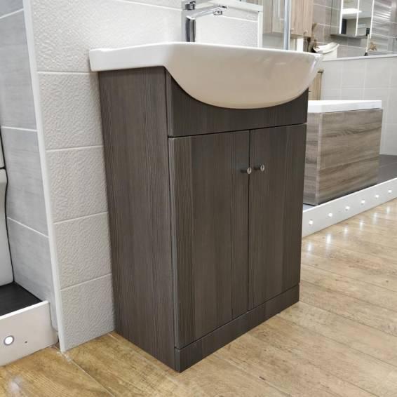 Ikoma Bodega Grey Vanity Unit with Basin 550mm