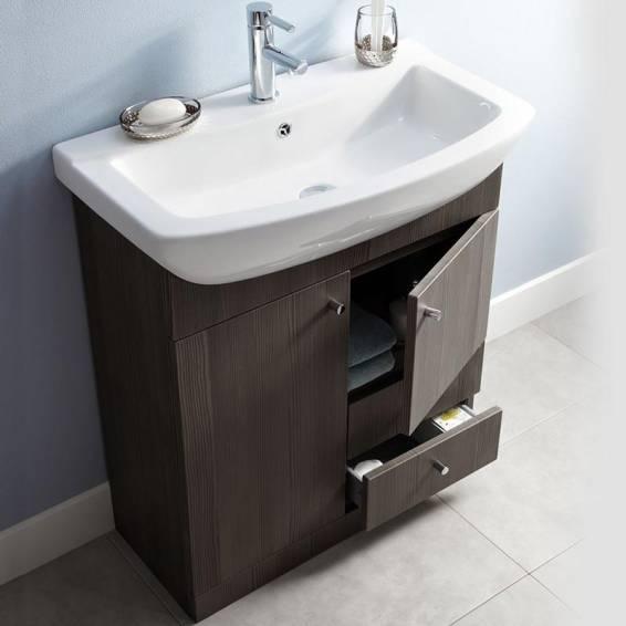 Ikoma Bodega Grey Vanity Unit with Basin 850mm