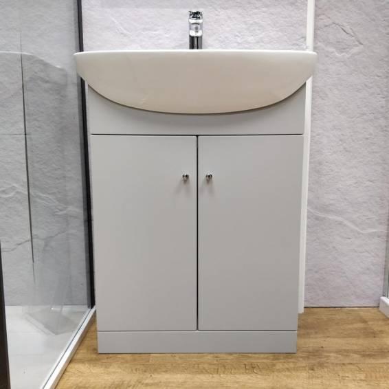 Ikoma Pearl Grey Matt Vanity Unit with Basin 550mm