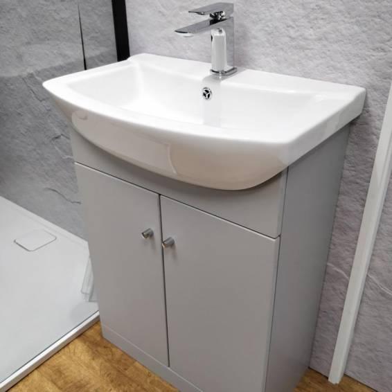 Ikoma Pearl Grey Matt Vanity Unit with Basin 650mm