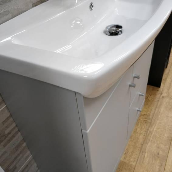 Ikoma Pearl Grey Matt Vanity Unit with Basin 750mm