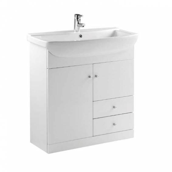 Ikoma White Gloss Vanity Unit with Basin 850mm