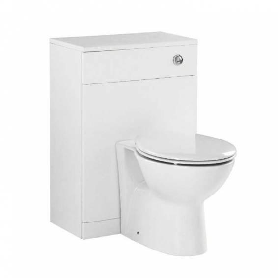 Ikoma White Gloss WC Unit 550mm