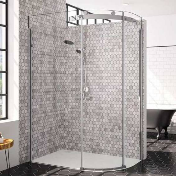 Merlyn 10 Series 1 Door Offset Quadrant Shower Enclosure Right Hand with Tray 1400 x 800mm