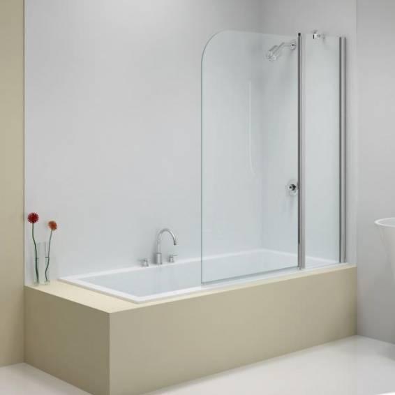 Merlyn 2 Panel Folding Curved 3MBa HydraSEAL Bath Screen 900mm