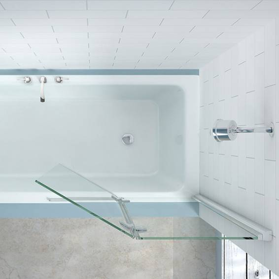 Merlyn 2 Panel Hinged MB7 Folding Bath Screen Left Hand 900mm