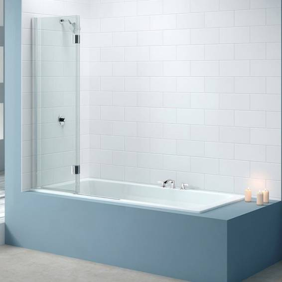 Merlyn 2 Panel Hinged MB7 Folding Bath Screen Right Hand 900mm