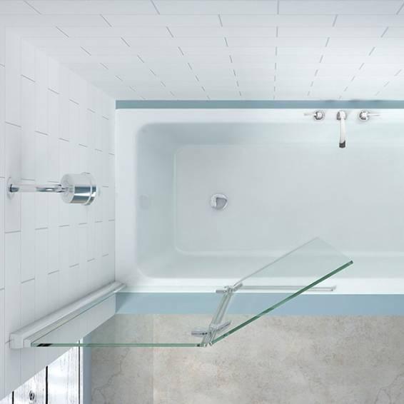 Merlyn 2 Panel Hinged MB7 Folding Bath Screen Right Hand 900mm