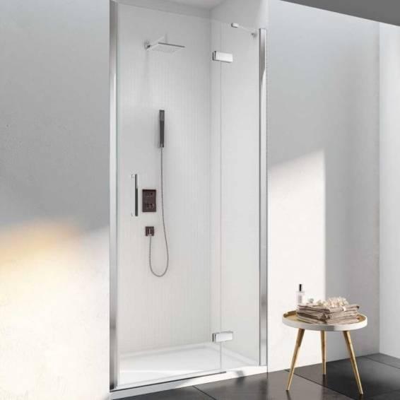 Merlyn 6 Series Frameless Hinge and Inline Shower Door 800mm