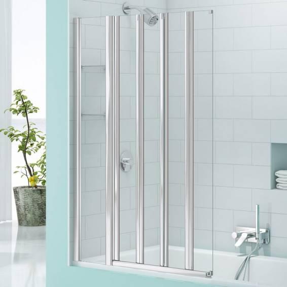 Merlyn Secure Seal 4 Fold Bath Screen with Storage 800mm