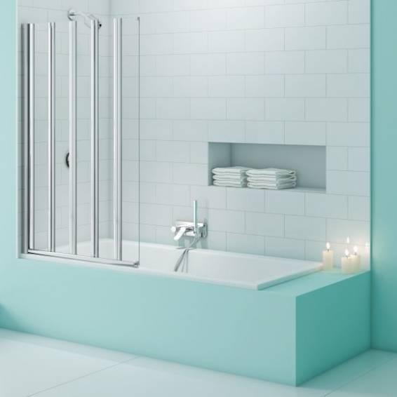 Merlyn Secure Seal 5 Fold Bath Screen 1000mm
