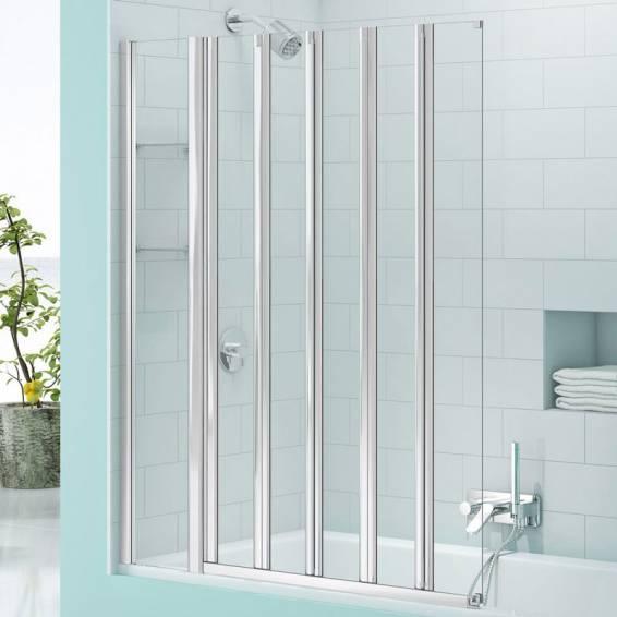 Merlyn Secure Seal 5 Fold Bath Screen with Storage 1000mm