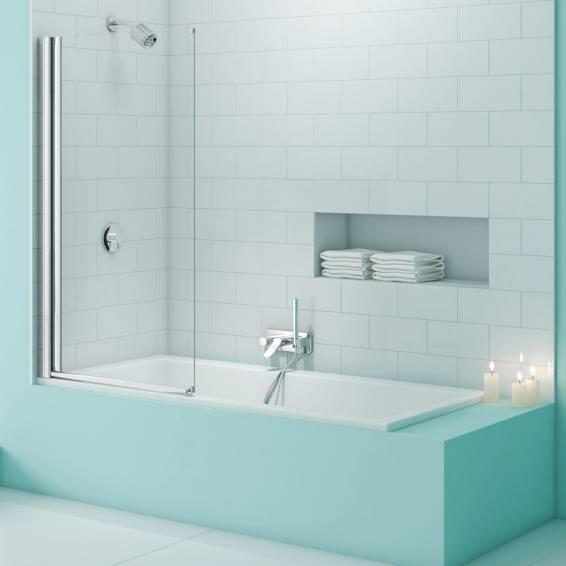 Merlyn Secure Seal Single Panel Bath Screen 800mm