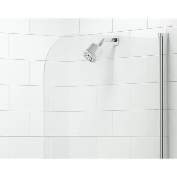 Merlyn Single Curved 1MB HydraSEAL Folding Bath Screen 800mm
