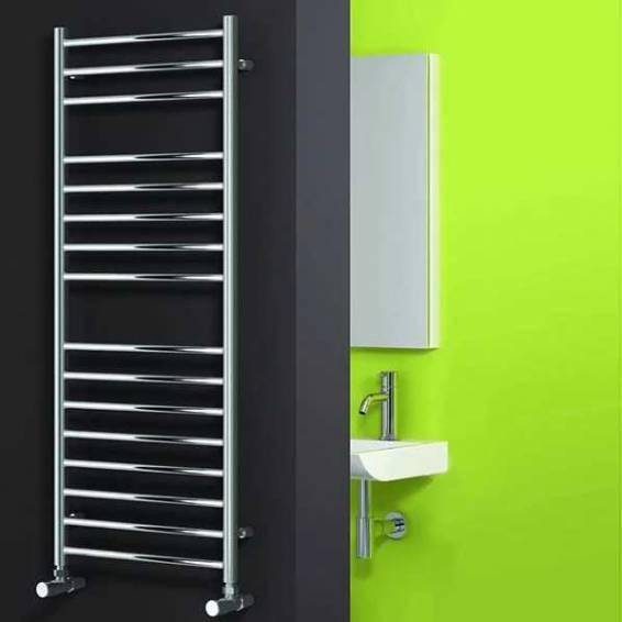 Reina Luna Stainless Steel Heated Towel Rail 1200 x 600mm