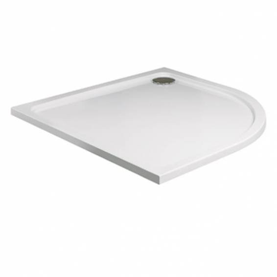 Roman Acrylic Capped Stone 40mm Low Profile 1000 x 1000mm Quadrant Shower Tray with Waste