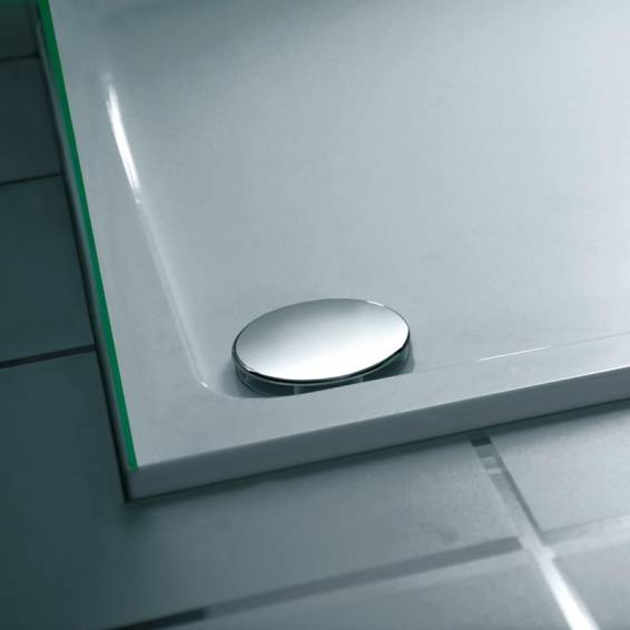 Roman Acrylic Capped Stone 40mm Low Profile 1400 x 900mm Rectangle Shower Tray with Waste