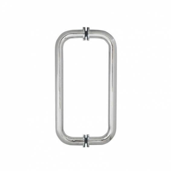 Roman Decem Hinged Shower Door with Curved Hardware Corner Fitting 1000 x 760mm