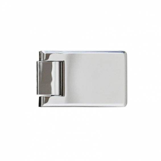 Roman Decem Hinged Shower Door with One In-Line Panel & Square Hardware Alcove Fitting 1000mm