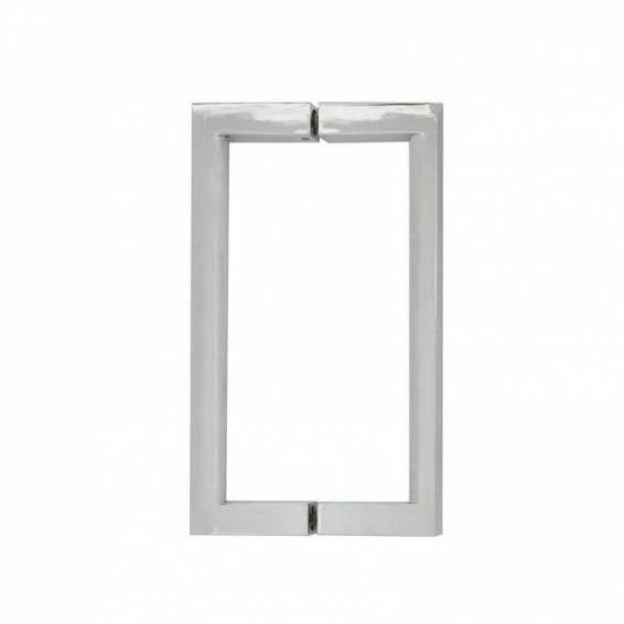 Roman Decem Hinged Shower Door with One In-Line Panel & Square Hardware Corner Fitting 1000 x 800mm