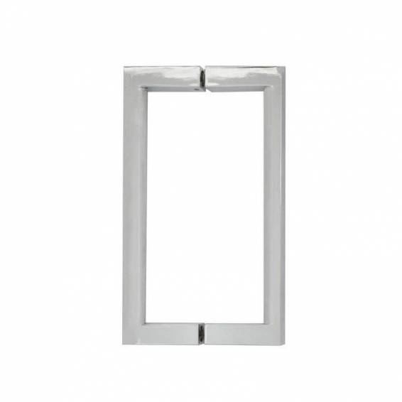 Roman Decem Hinged Shower Door with Two In-Line Panels & Square Hardware Corner Fitting 1200 x 800mm