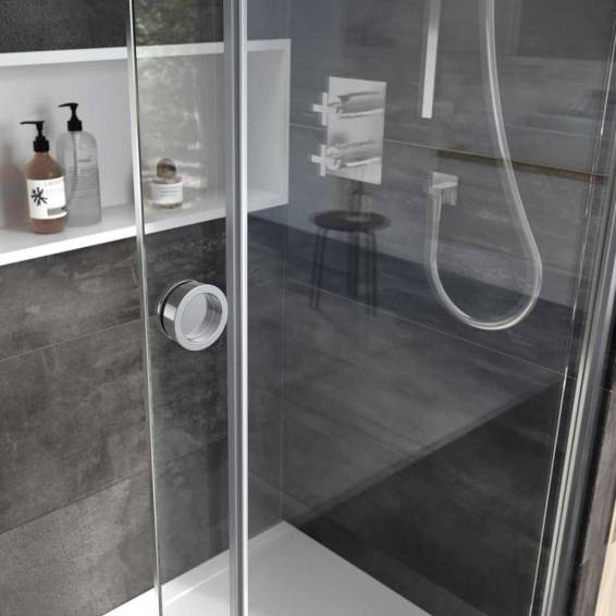 Roman Decem Level Access Sliding Shower Door Alcove Fitting Left Hand 1200mm