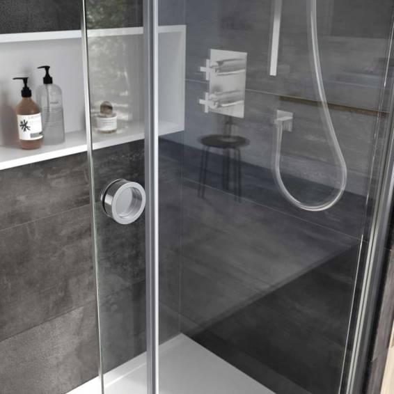 Roman Decem Level Access Sliding Shower Door Corner Fitting Left Hand 1200 x 800mm