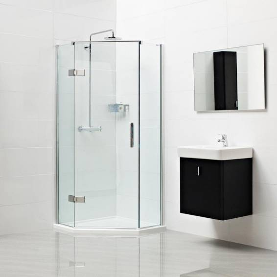 Roman Decem Neo Angle Left Hand Shower Enclosure 900 x 900mm