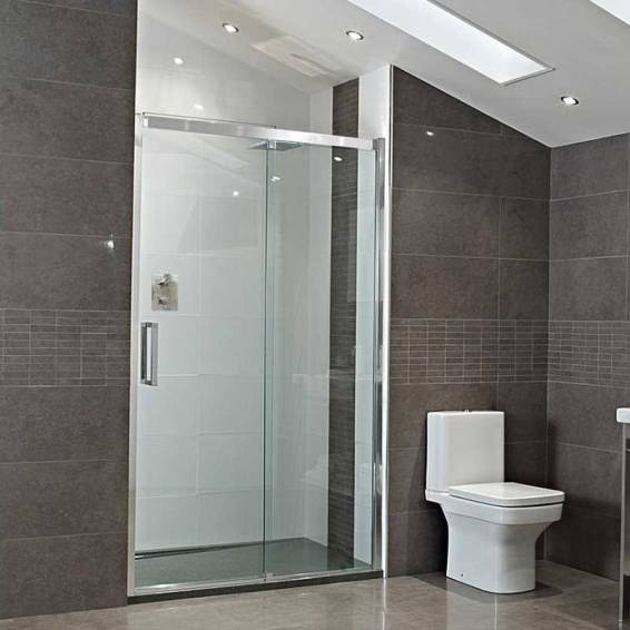 Roman Decem Sliding Shower Door Alcove Fitting Right Hand 1200mm