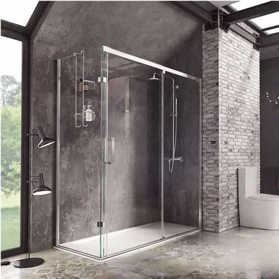 Roman Decem Sliding Shower Door Corner Fitting Right Hand 1200 x 800mm