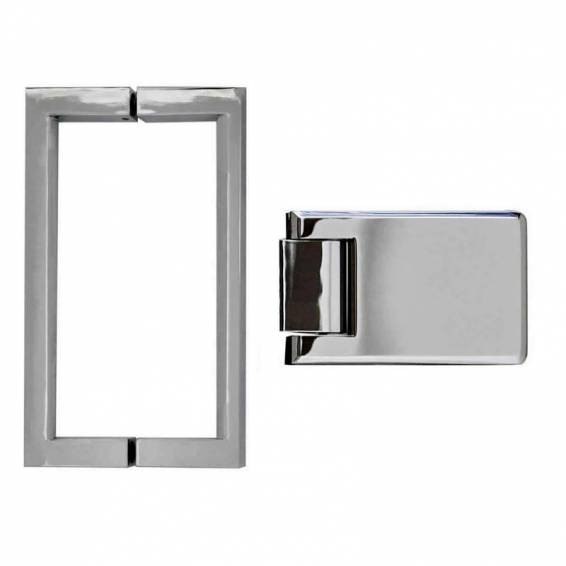 Roman Decem Victoriana Hinged Shower Door with Square Hardware Alcove Fitting Right Hand 900mm