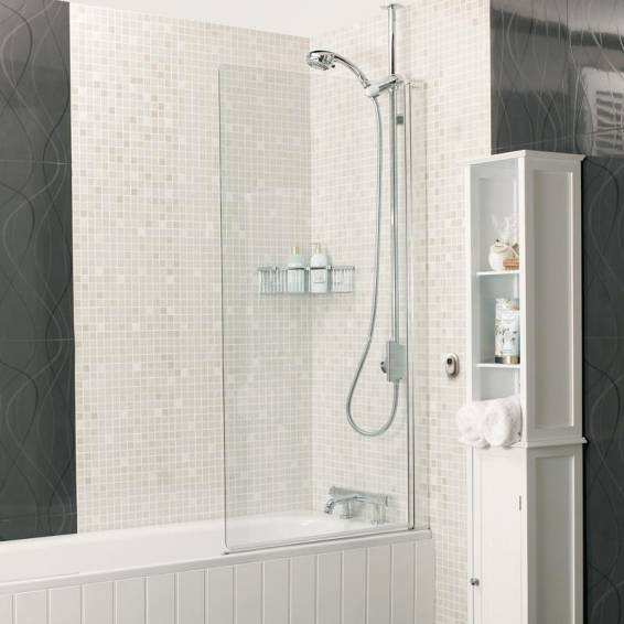 Roman Embrace Inward and Outward Opening Bath Screen 820mm