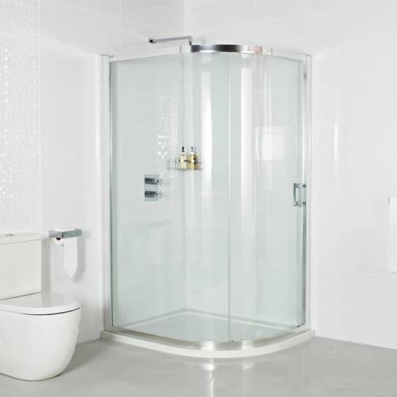 Roman Embrace One Door Offset Quadrant Sliding Shower Door 800 x 900mm