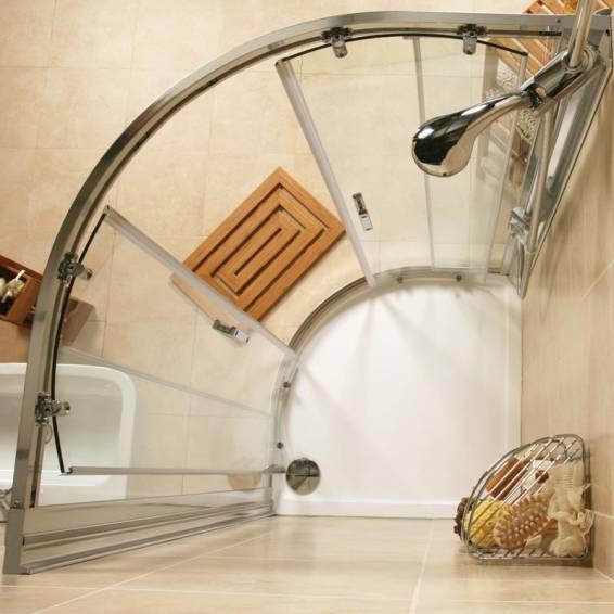 Roman Embrace Two Door Quadrant Sliding Shower Door 800 x 800mm