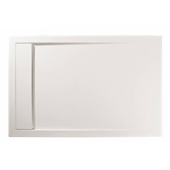 Roman Infinity 40mm Low Profile Stone Rectangle Shower Tray White 1400 x 900mm