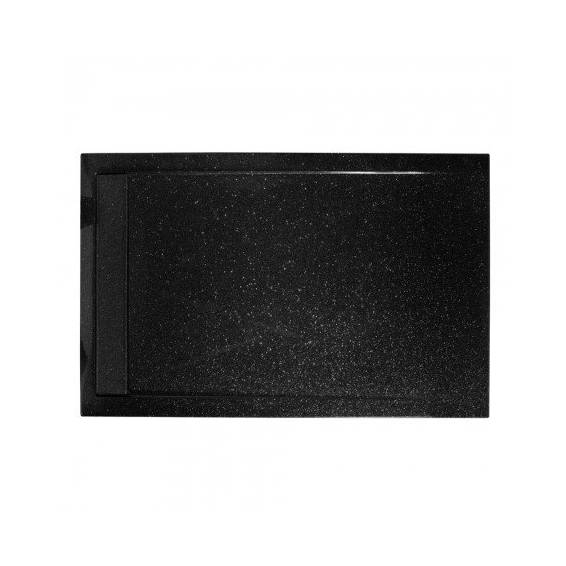 Roman Infinity 40mm Low Profile Stone Rectangle Shower Tray Shimmer Black 1600 x 800mm