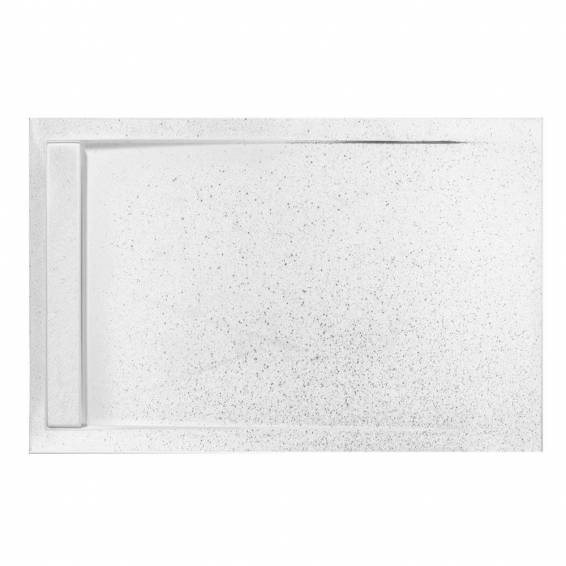Roman Infinity 40mm Low Profile Stone Rectangle Shower Tray Shimmer White 1400 x 900mm