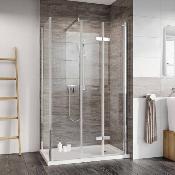 Roman Innov8 Bi-Fold Shower Door with In-Line Panel Corner Fitting 1200 x 800mm